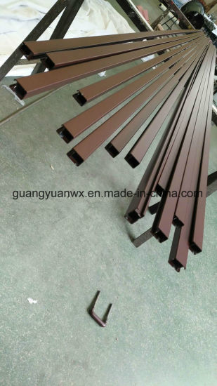 Powder Coated Aluminium Extruded Profile Pipes for Umbrella and Railway