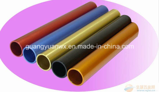Colored Anodized Aluminum Extrusion Tubing/Tubes/Pipes